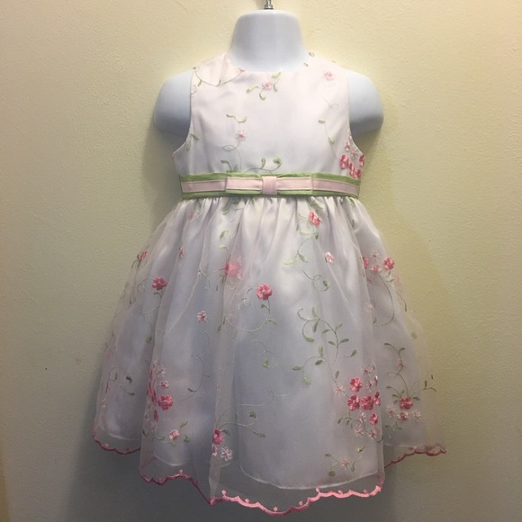 7615af5ac85 ☘️Girl Embroidery Floral Pageant Party Dress new. Boutique. Rare Editions